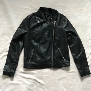 Faux Leather Jacket Size L